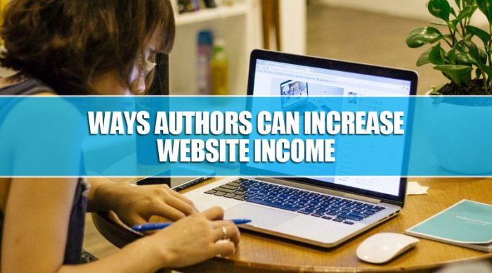 Ways Authors Can Increase Website Income